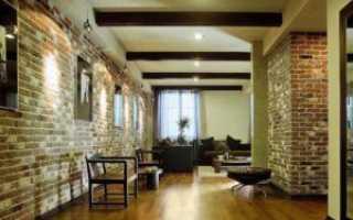 Варианты внутренней отделки кирпичного дома