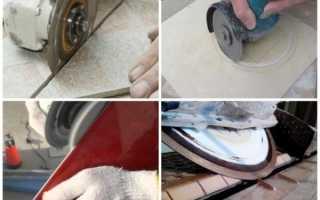 Каким диском резать керамическую плитку