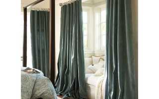 Должны ли шторы лежать на полу