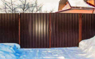 Забор зимой особенности установки