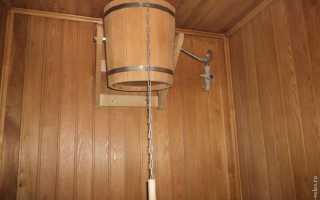Ведро для обливания в баню