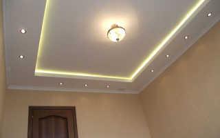 Потолки из гипсокартона с подсветкой