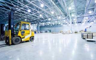 Типы промышленных потолочных светильников