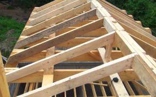 Соединение двух двухскатных крыш