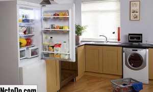 Холодильник с левым открыванием двери