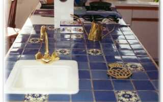 Как отделать стол керамической плиткой