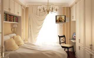 Шторы в небольшую спальню