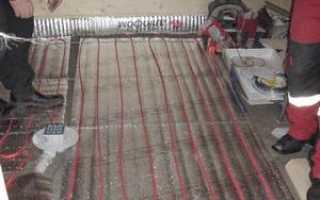 Электрический теплый пол в бане под плитку