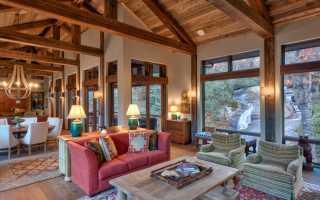 Натяжной потолок в деревянном доме идеи дизайна
