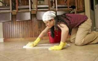 Чем мыть керамогранитную плитку на полу