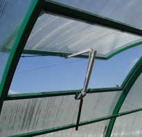 Вентиляция теплицы из поликарбоната своими руками