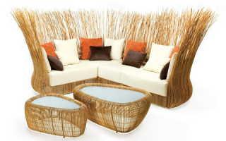 Плетеная мебель что следует знать о ней