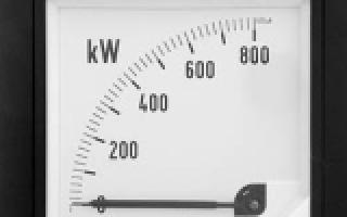 Понятие мощности электрического тока