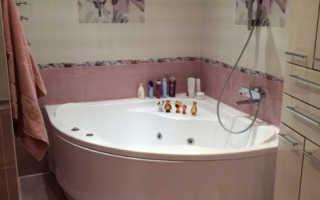 Ванные комнаты с угловой ванной