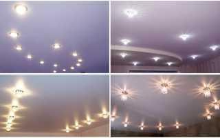 Технические особенности точечного освещения натяжного потолка