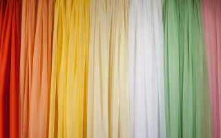 Как выполнить пошив тюли своими руками
