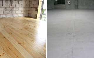 Какой пол дешевле деревянный или бетонный