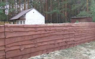 Забор из необрезной доски вертикальный