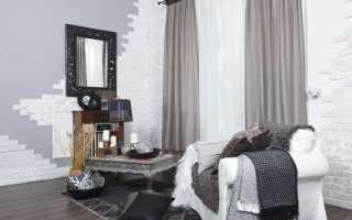 Популярные варианты штор для зала