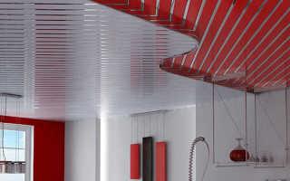 Преимущества реечных потолков для кухни монтаж своими руками