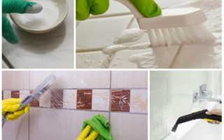 Как зачистить швы между плиткой в ванной
