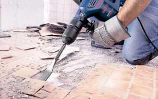 Разборка покрытий полов из керамических плиток