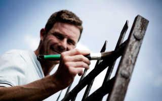 Чем покрасить металлический забор