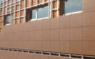 Самостоятельное крепление фасадного керамогранита