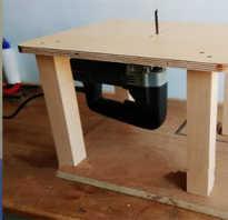 Как сделать циркулярный стол для электролобзика своими руками