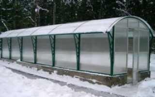 Укрепление теплицы из поликарбоната на зиму