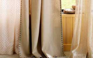 Как сшить шторы из льна своими руками