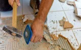Демонтаж плитки в ванной своими руками