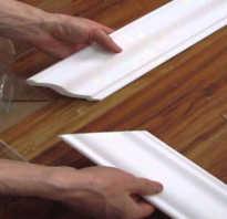 Подрезаем угол при помощи стусла