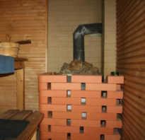 Каким кирпичом обложить железную печь в бане