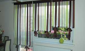 Шторы в детской с балконом