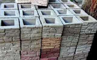 Сборные столбы для забора из бетона