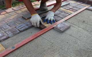 Как правильно класть тротуарную плитку на бетон