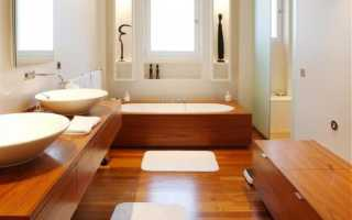 Деревянный пол в ванной комнате особенности монтажа