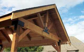 Как сделать крышу на беседке своими руками