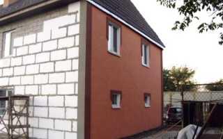 Технология отделки фасада дома из газобетонных блоков