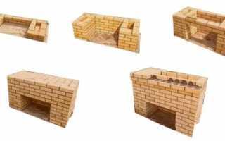 Как построить на даче мангал из кирпича своими руками