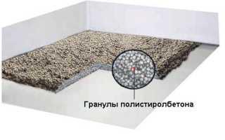 Пол по грунту из полистиролбетона