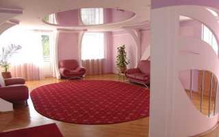 Особенности дизайна розового натяжного потолка