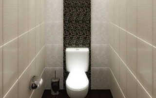 Плитка на пол в маленьком туалете