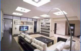 Предварительно рассчитайте место для ламп или светильников