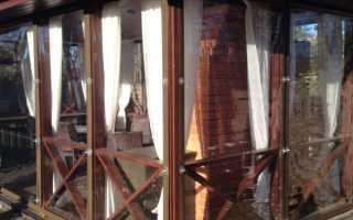 Гибкие окна для веранд