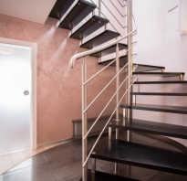 Временные перила для лестницы